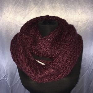 BCBGeneration knit metallic infinity scarf